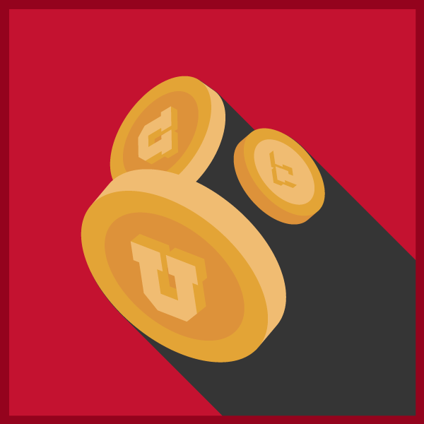 U of U coins logo